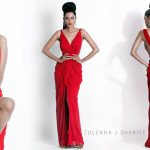 natasha suri red designer dress