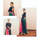sanya malhotra  designer dress with black top and lehenga (28)