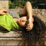 sanya malhotra  green dress frizzy hair beautiful picture(10)