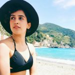 sanya malhotra  in black bikini in beach(23)