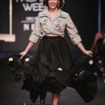 sanya malhotra lakme fashion week black dress grey top (26)