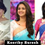 1. Keerthy Suresh, saree, collections, 2018