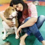 Adah Sharma, dog, with pet animal