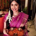 Adah Sharma, festival, saree, smile