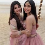 Adah Sharma, pink dress, with friend, hd, recent