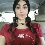 Adah Sharma, selfie, car