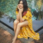 Adah Sharma, yellow dress, modern, hd, full size