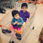 Allu Arjun, daughter, son, shopping