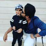 Allu Arjun, kiss, father, son