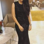 Andrea Jeremiah, black dress, full size