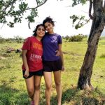 Anisha Victor, with friend, natural, full size