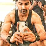 Atharvaa, six pack, work out, gym