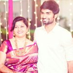Atharvaa, with mom, family