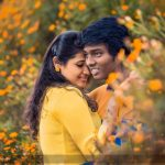 Atlee Kumar , Krishna Priya, couple goals, yellow dress