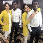 Atlee Kumar , Krishna Priya, hug, yellow dress, simple, director