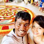 Atlee Kumar , Krishna Priya, selfie