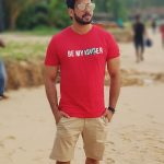 Bharath, Beach, Red Dress
