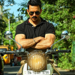 Bharath, Black T Shitrt, Mass, Bike