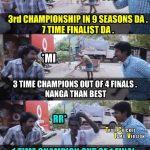 CSK Memes, CSK Won 2018, Soori, Sivakarthikeyan, Champion, RR