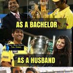 CSK Memes, CSK Won 2018, father, husband, msd cup, 3 time cup in single picture