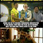 CSK Memes, CSK Won 2018, meet fans, vijay, dhoni, interview