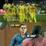 CSK Memes, CSK Won 2018, yellow army, csk team, vijay