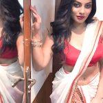 Chandrika Ravi, glamour, saree, Iruttu Arayil Murattu Kuthu