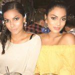 Chandrika Ravi, yellow colour, with sister