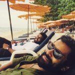 Chiyaan Vikram, beach, lying, mass