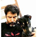 Chiyaan Vikram, selfie, home, dog