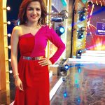 Dhivyadharshini, red dress, 2018 best pictures, vijay tv