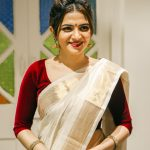 Dhivyadharshini, saree, hd, kerala saree