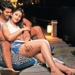 Ghajinikanth, Arya, Sayyeshaa Saigal, Half Dress, Hug, Kiss, Romantic