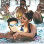 Ghajinikanth, Arya, Sayyeshaa Saigal, Swimming pool, Enjoy, Hug
