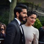 Harshavardhan kapoor black tuxedo red carpet look with girl (11)