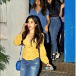 Janhvi Kapoor aka Jhanvi Kapoor, shooting, night, yellow