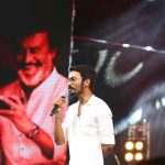 Kaala Audio Launch Event, dhanush, mic, stage