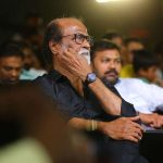 Kaala Audio Launch Event, superstar, rajinikanth, black dress