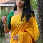 Kaali Movie Press Meet, sunaina, saree, yellow, latest