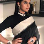 Keerthy Suresh, black saree