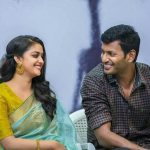 Keerthy Suresh, festivel saree, vishal, speech
