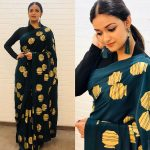 Keerthy Suresh, green fancy saree