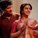 Keerthy Suresh, orange saree, dulgar salmon