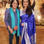 Keerthy Suresh, saree, event, blue colour saree