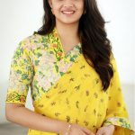 Keerthy Suresh, saree, hair style, yellow saree