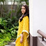 Keerthy Suresh, wallpaper, hd, photoshoot, yellow saree