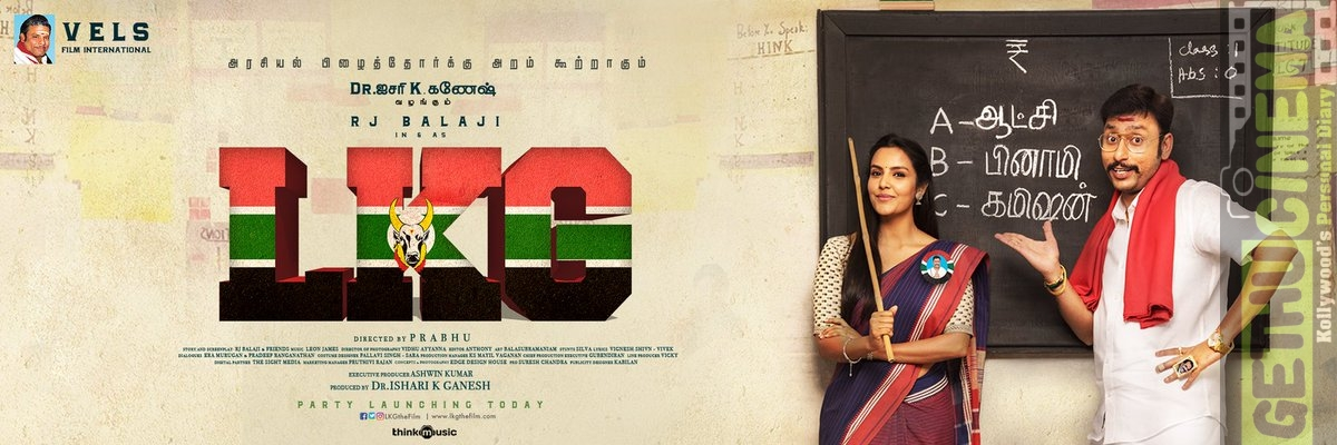 LKG MOVIE RJ BALAJI FIRST LOOK POSTER WITH PRIYA ANAND  (1)