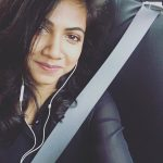 Madonna Sebastian, selfie, car, black dress