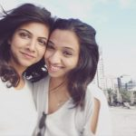Madonna Sebastian, selfie, friend, white dress