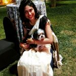 Manisha Yadav, Night Party, Dog, White Dress